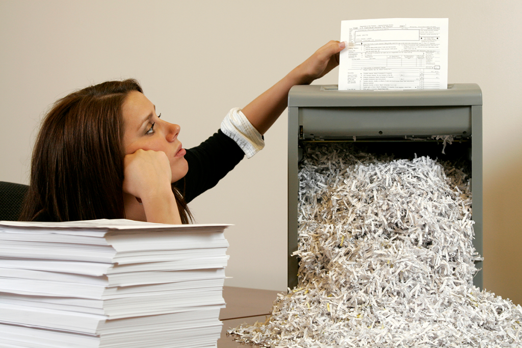paper shredding Shredding sensitive documents is one way to reduce your risk of becoming an identity theft victim attend one of these free community shred events to keep your personal information out of the hands of crooks.